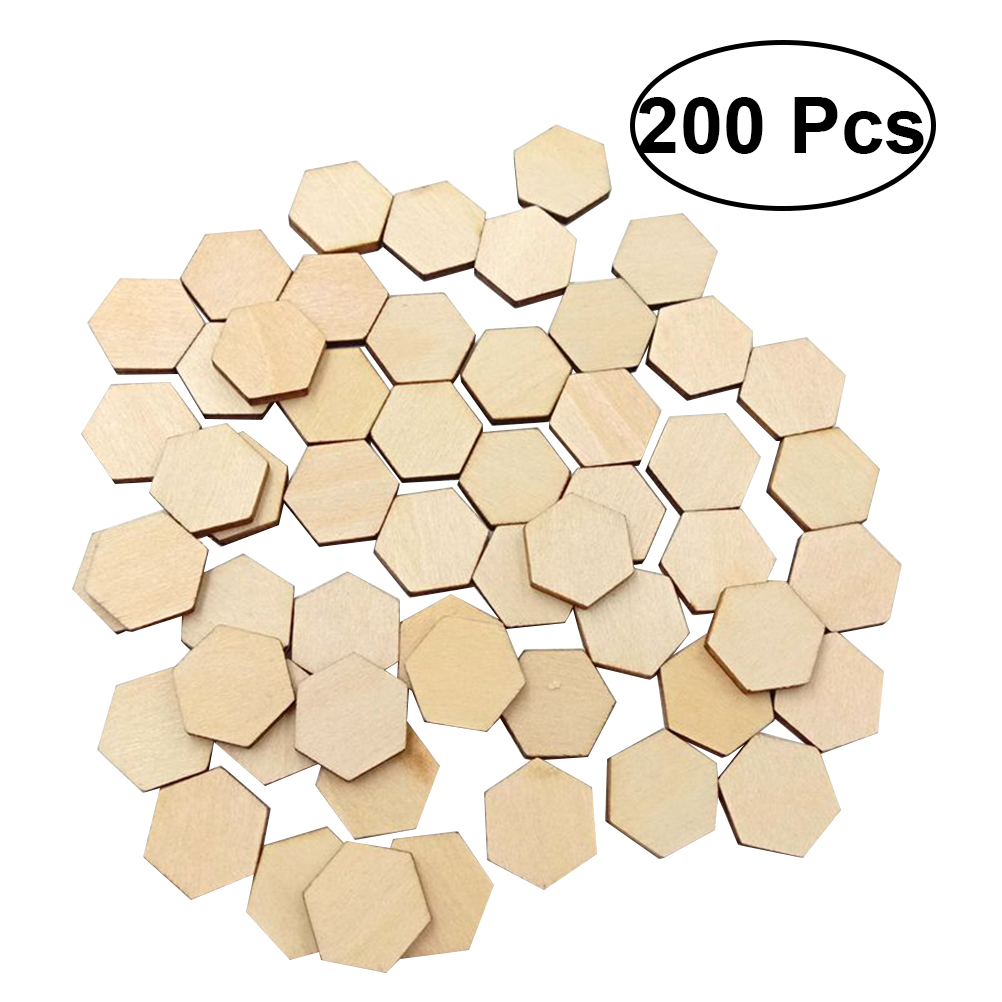 48 Assorted Wooden Christmas Shape Embellishments for Crafts