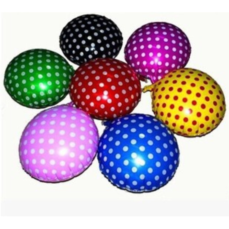 The new 18-inch dot selling wholesale wedding party decorative aluminum balloons