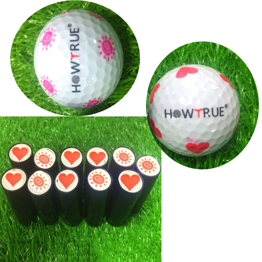 Image 5 - Cute Heart and Sun Shape Design Golf Ball Stamper Stamp Seal Impression Marker Print Gift Prize for Golfer Learner Making Sign-in Golf Training Aids from Sports & Entertainment