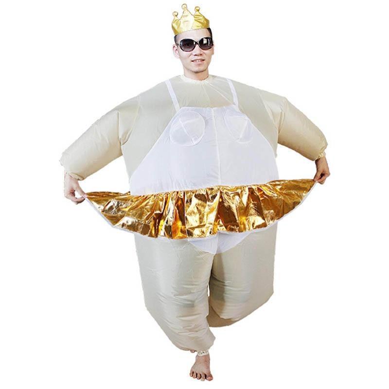 Ballet Kostuums Carnaval Ballerina Opblaasbare Kostuums Voor Volwassenen Fancy Dress Pak Party Halloween Kostuum Voor Mannen Wit Een Plastic Behuizing Is Gecompartimenteerd Voor Veilige Opslag