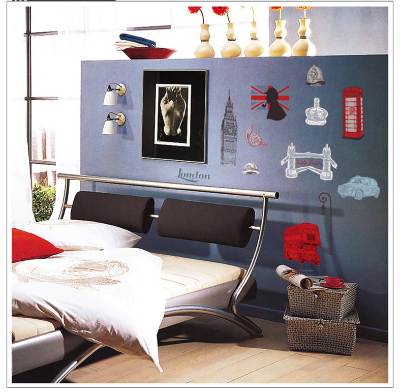 London Home Decor Wall Sticker Bathroom Kitchen Decoration Mirror Painting Novelty Households Diy Vinyl Mural Photo Wallpaper In Wall Stickers From Home