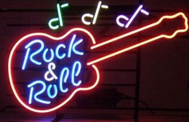 Custom Rock & Roll Neon Light Sign Beer Bar