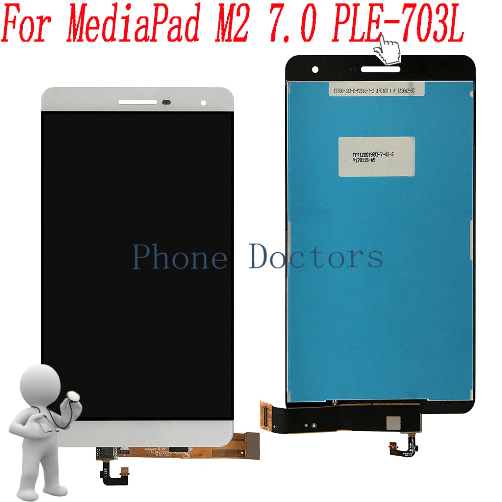 7.0 inch LCD DIsplay + Touch Screen Digitizer Assembly For Huawei MediaPad M2 7.0 PLE-703LT / MediaPad 7.0 T2 Pro PLE-703L lcd display glass panel touch screen digitizer assembly replacement parts for huawei mediapad t1 823l t1 821w t1 821l t1 821