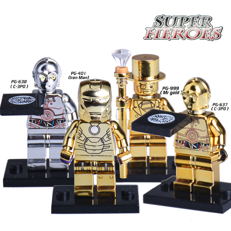 1PC Iron Man Mr Gold C3PO Star Wars Limited Edition Chrom ...