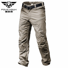 Summer Waterproof Tactical Pants Male Jogger Casual Men's Cargo Pants Cotton Trousers Military Style Army Black Man Pant Casual(China)