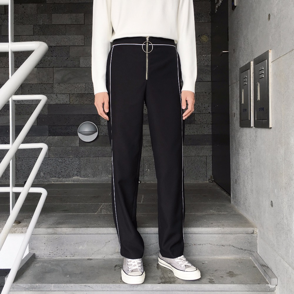 Homemade new style ring zipper with long legs and fashionable retro pajamas leisure pants. S-6XL!!