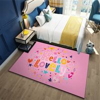 Nordic Language Living Room Bedside Carpet Area Rugs Doormat Prayer Yoga Bath Mat Flannel Kitchen Outdoor Floormat 200*200cm
