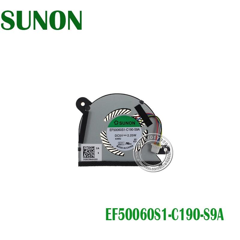Sunon ef50060s1-c190-s9a dc5v 2.25 w dq5d564k000 resfriamento de cpu fan para asus x200ca ventilador de refrigeração da cpu
