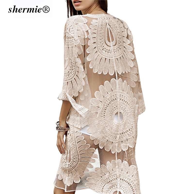 Sexy Sarongs Bikini Beach Tunic Crochet Beach Cover Up Bathing Suit Plus Size White Robe De Plage Swimsuit Women Cover-Ups pareo