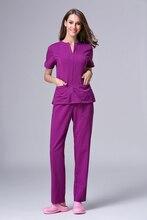 2018 Fashion Women Hospital Medical Scrub Suit