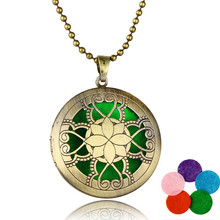 HOMOD Hot Sale Stainless Steel Aromatherapy Perfume Locket Essential Oil Diffuser Locket Woman Pendant Necklace Gift