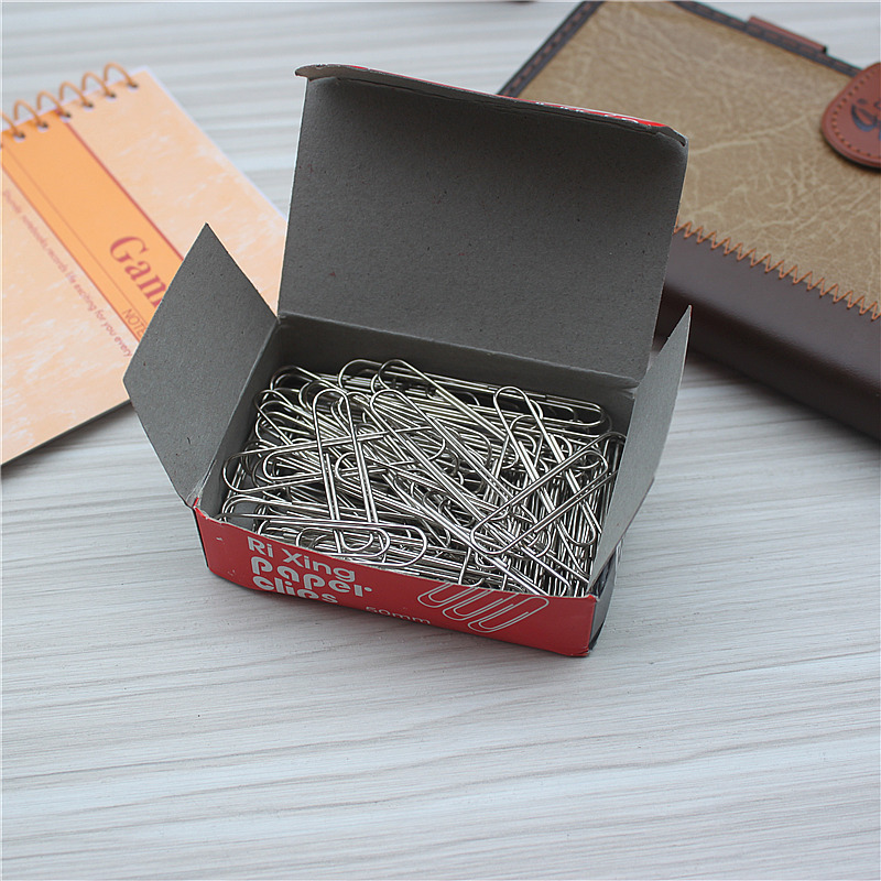 75pcs /set Large Book Mark Office Supplies  File Classification Round  Paper Clip Pin Bookmark Metal Big Paper Clips