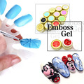 12colors/set 3D Emboss UV Gel Soak Off UV/LED Sculpture Nail Gel Acrylic Nail Art Tips Painting by GDCOCO