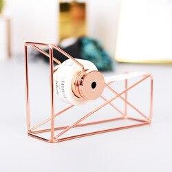 Alta qualidade rosa de ouro fita cortador washi armazenamento organizador cortador papelaria escritório dispensador fita suprimentos escritório h0160