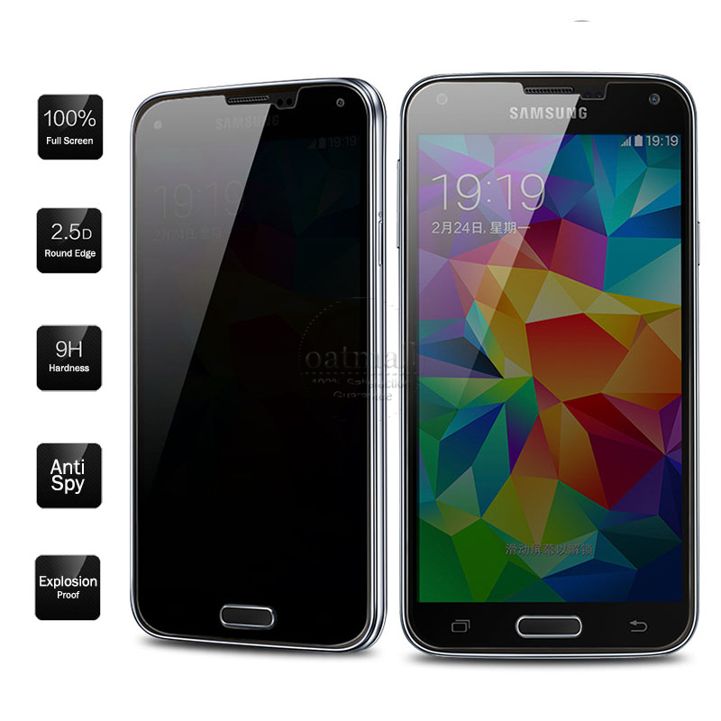 0.33mm Anti Spy Privacy Tempered Glass For Samsung Galaxy S7 S6 S5 Screen Protector Glass Film For Samsung Galaxy Note 5 4 Saver