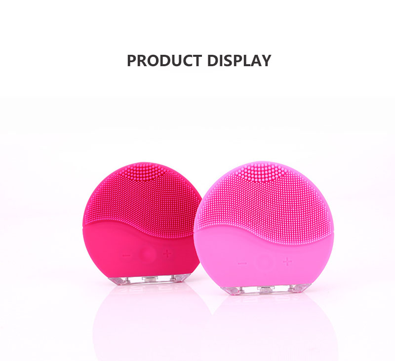Electric Silicone Facial Cleansing Brush Sonic Vibration Massage USB Rechargeable Smart Ultrasonic Face Cleaner Beauty Tool trail order 10pcs lot 22 colors fashion baby girl mini chiffon flowers hair clips sweet girls hairpins for kids hair accessories