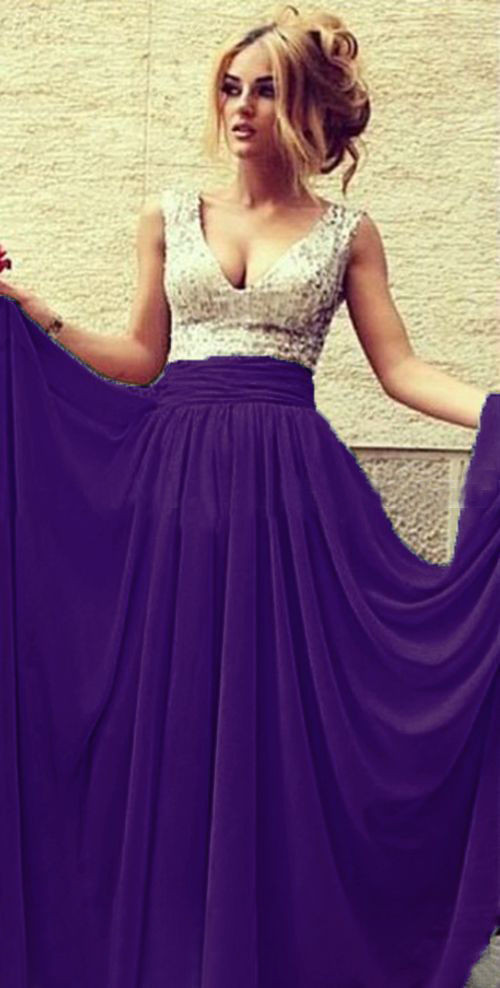 2017 hot Cheap Bridesmaid Dresses Under 50 A line Deep V neck ...