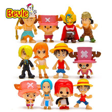 Bevle One Piece Cartoon Characters PVC Enel/Joba/Nami Decoration Action Figure 3cm Monkey D Luffy Doll Figure Toy 12 Piece/lot