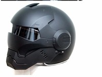 2016 Top Hot Black MASEI IRONMAN Iron Man Helmet Motorcycle Helmet Half Helmet Open Face Helmet