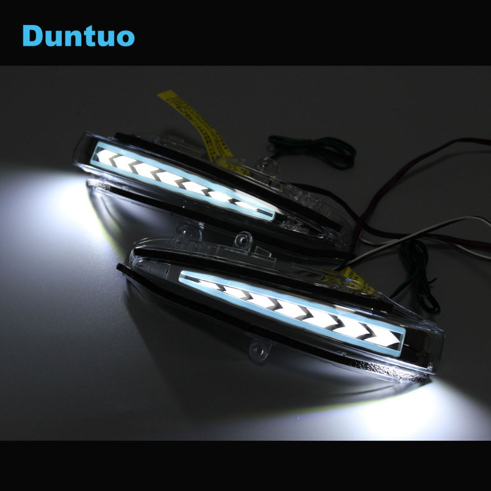 Rearview Mirror Light LED Sequential Flowing Turn Signal Lamp Running Light For Toyota RAV4 HARRIER ESQUIRE