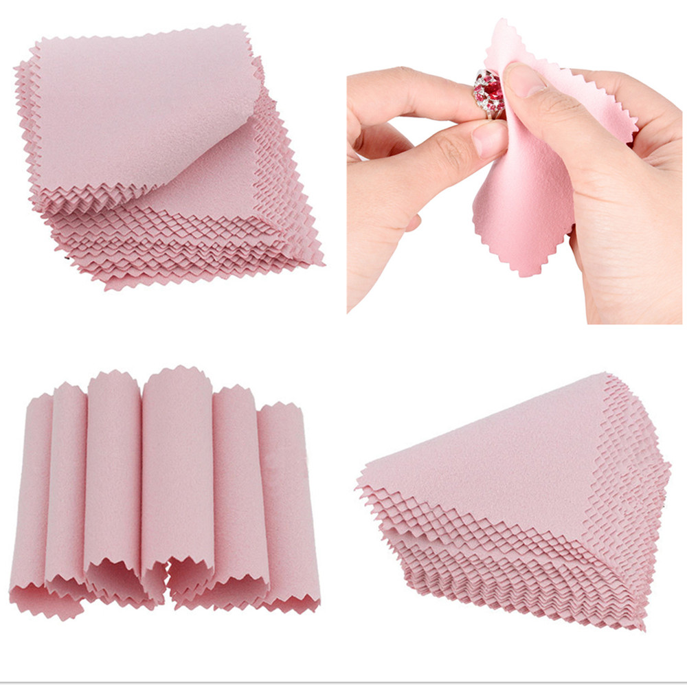 50 Pcs Polishing Cloth Silver Ornaments Cloth  Wipe Silver Jewelry Cleaning Cloth Useful Jewelry Tools
