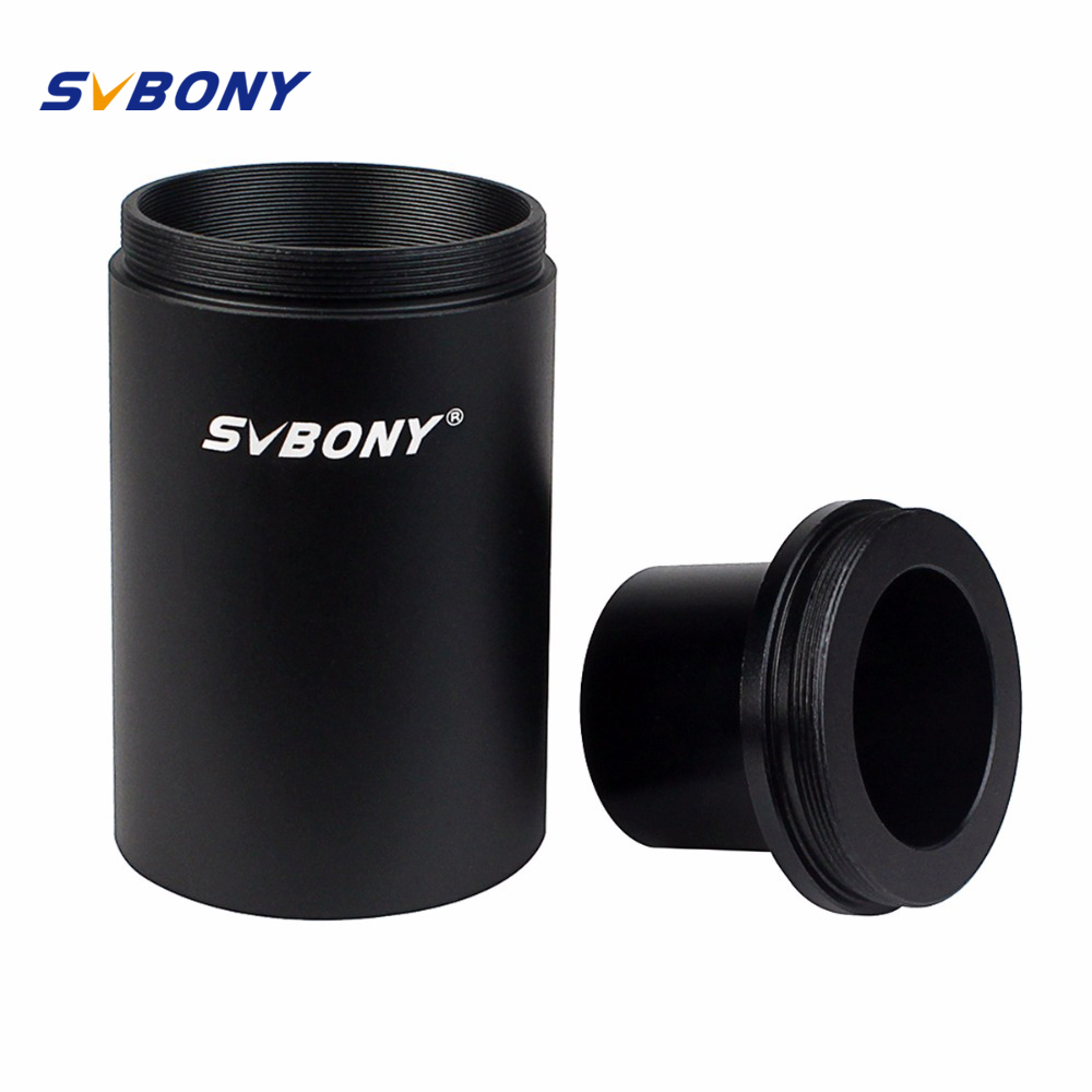SVBONY 1.25'' Extension Tube Adapter CA1 Astronomy Telescope M42 Thread T-Mount Adapter for Telescope / DSLR Camera F9105 цена