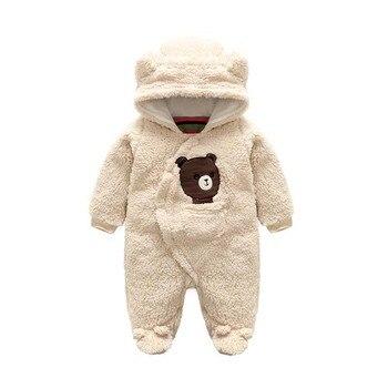 981d3dec5 Nueva moda recién nacido invierno Bebé mamelucos coral polar algodón  acolchado bebé niña niño ropa engrosamiento