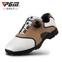 Для мужчин гольф обувь из натуральной кожи Нескользящие ручки шнурки Водонепроницаемый кроссовки спортивная обувь для гольфа Для мужчин BOA