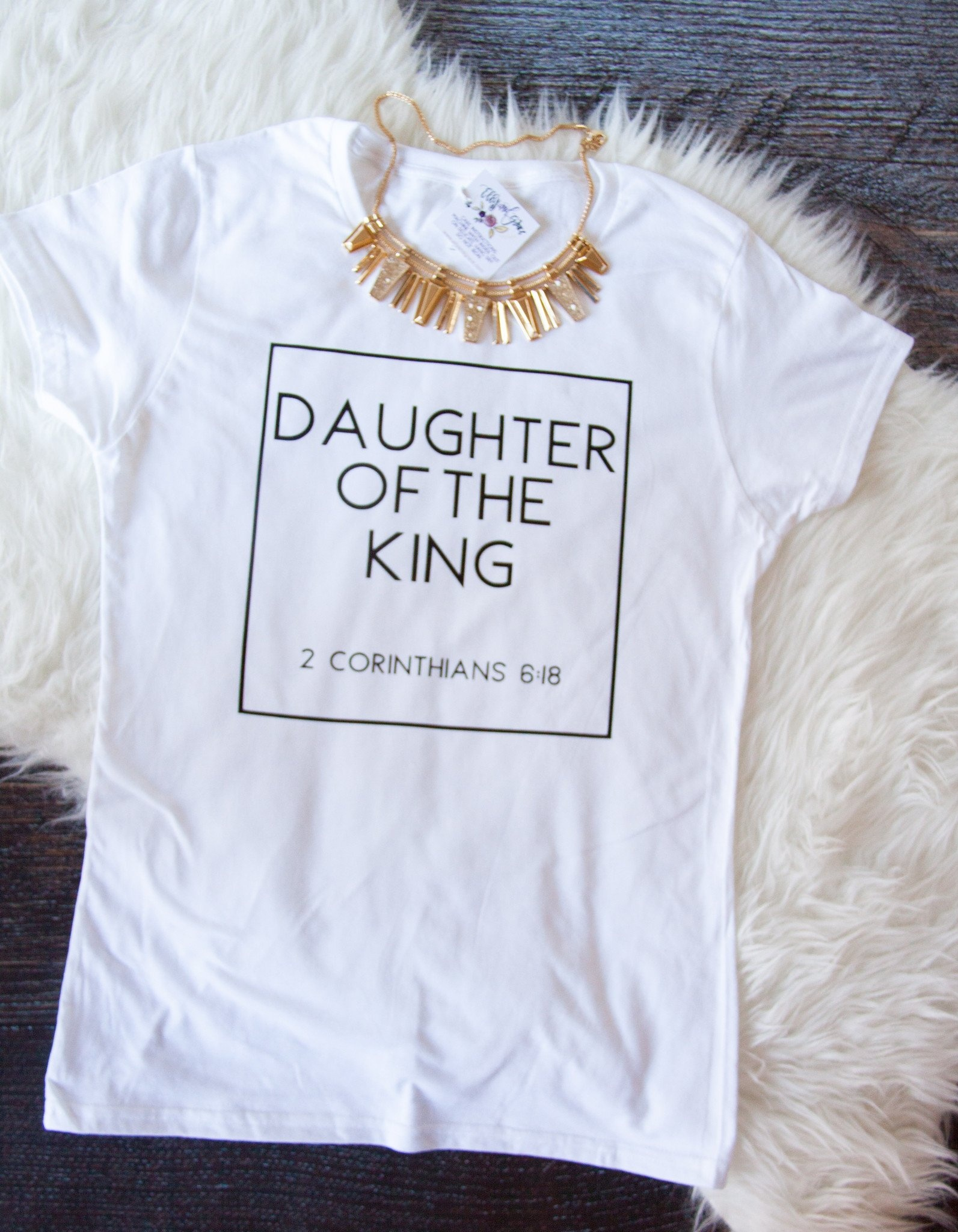 US $10.5 |PUDO JBH Corinthians 6 Daughter Of the King Christian T Shirt  Women Holly Bible Quotes Cute Graphic Tee Casual White Tops-in T-Shirts  from ...