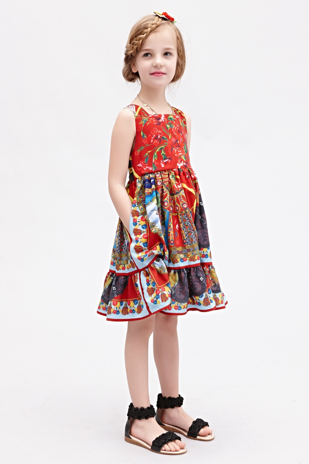 girl dress 2015 new spring summer baby girls dresses kids