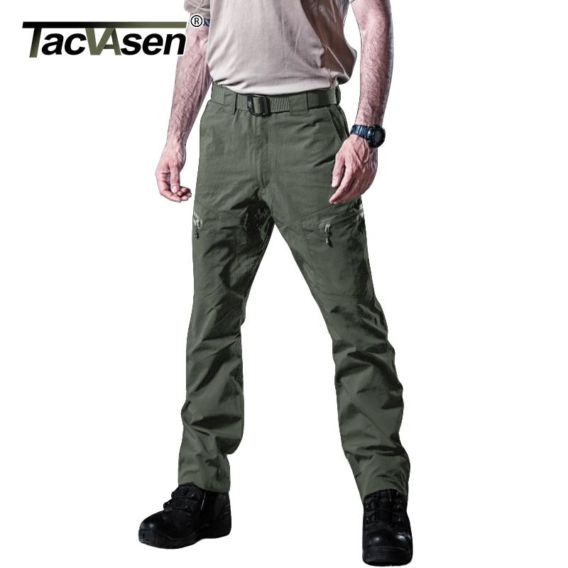 TACVASEN 男性夏戦術的な衣類男性の防水カーゴパンツ軍事速乾性パンツペイントボールズボン TD YCXL 046  グループ上の メンズ服 からの カーゴパンツ の中 1