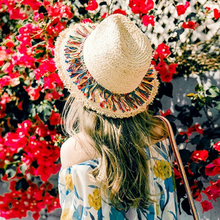 Sombrero Mujer Solid Color Beach HatFashion Concise Colorful Summer Hat Tassel Personality Chapeau Femme Ete All-match
