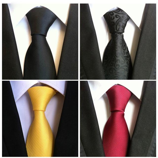 Corbatas de moda para hombre corbata negra accesorios de ropa Gravata hombre corbata Vestidos hombres corbata Poliéster seda corbata pañuelo