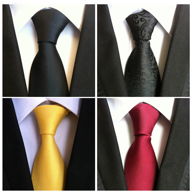Mens Ties Black Fashion Necktie Gifts For Men Bow Tie Corbata Polyester Silk Wedding Tie Ties For Men Clothing Accessories