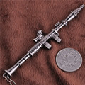 Gun Metal Weapons Keychain RPG-7 Key Rings Key  Holders Tritium Porte Clef Kawaii For Best Friends