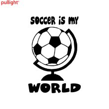 Soccer Is My World Heart Vinyl Decal Car Sticker Love Sport Ball Cleats