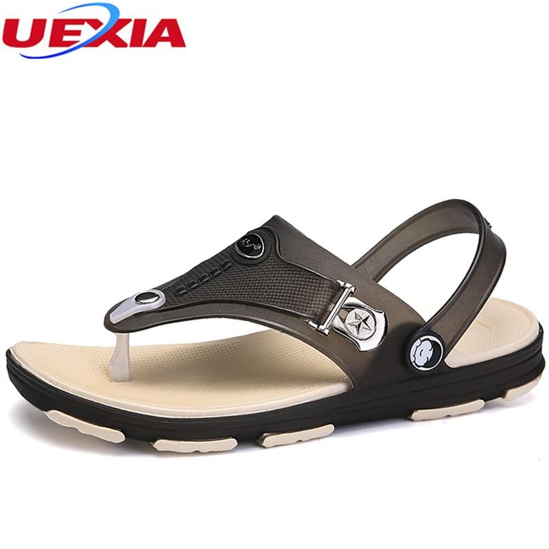 Uexia Лето Обувь мужские сандалии летние открытые eva дышащая пляжная обувь Туфли без каблуков 2018 унисекс Повседневное Открытый Zapatillas HOMBRE