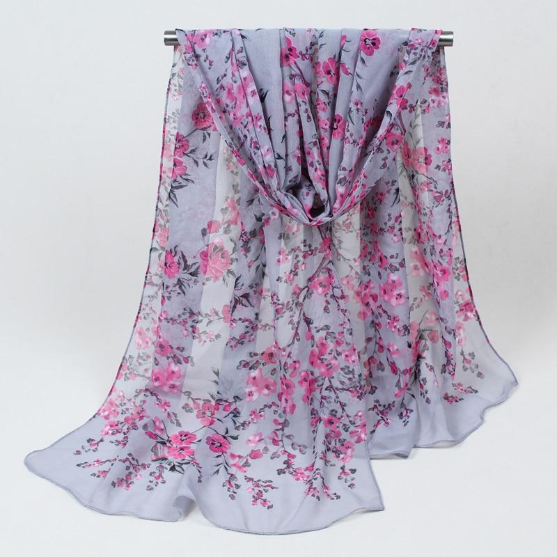 Sciarpe di seta lunghe nuove di modo chiffon 1PC 160cm * 50cm sciarpa - Accessori per vestiti - Fotografia 2