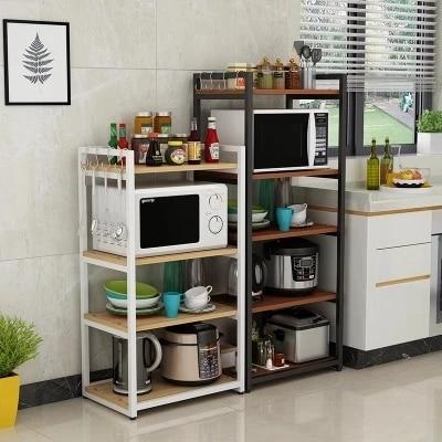 stainless steel kitchen microwave oven luggage carrier kitchen island kitchen storage organizer cabinet rack