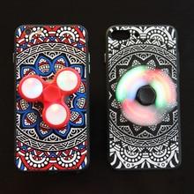 LED F Lashอยู่ไม่สุขปินเนอร์นิ้วEDCมือปั่นกรณีโทรศัพท์สำหรับiPhone 7 6 6วินาทีบวกแฟชั่นR Etroดอกไม้ปกหลังสำหรับiPhone 7