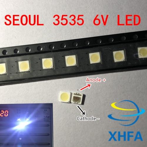 400 шт., светодиодная подсветка высокой мощности, 2 Вт, 3535, 6 в,