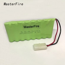 MasterFire 4PACK/LOT New Original 9.6V 1800mAh 8x AA Ni-MH RC Rechargeable Battery Pack for Helicopter Robot Car Toys with Plug