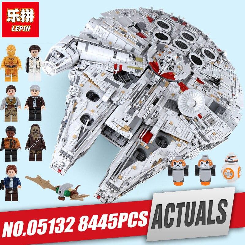 Lepin 05132 05033 stella piano di Giocattoli della serie di Wars cacciatorpediniere millennium falcon compatibile Legoing 75192 mattoni blocchi di costruzione di modello