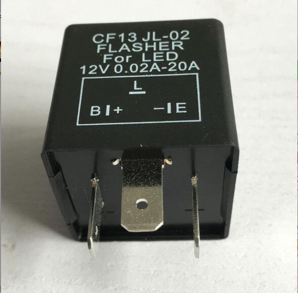 3Pin CF13 JL-02 Car motorcycle Flasher Relay Fix LED Light Turn Signal Hyper Flash imars™ 2 pin speed adjustable flasher relay dc 12v motorcycle led turn signal