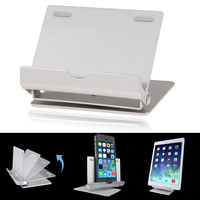 Aluminium Tablet Holder Portable Fold Up Desk Stand Holder For IPad Tablet P4PM