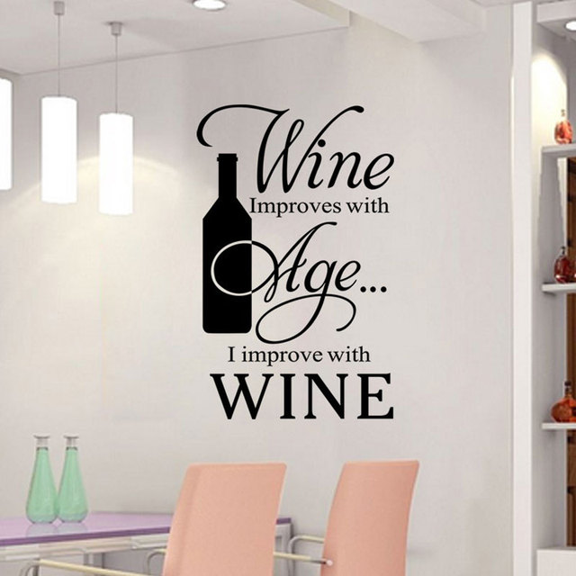 Rotwein Englisch Sprüche Wandaufkleber Küche Restaurant