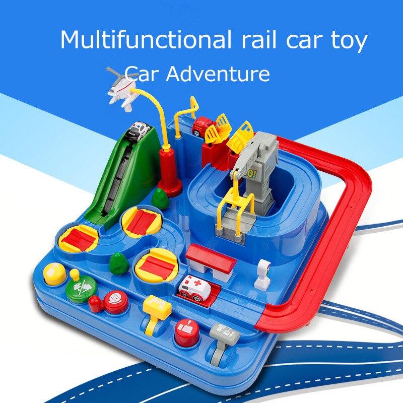 2018 Фирменная Новинка концепция чистого ручного механические трек автомобиль Приключения вагон детская машина Обучающие игрушки, подарки