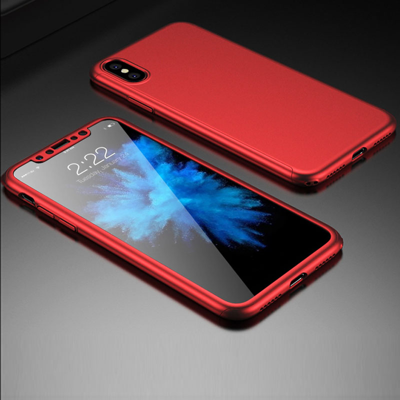 finest selection 42018 ab277 US $4.99 |NKOBEE For iphone X Case Cover 360 Full Protection Cover For  iphone X Case Luxury Case Cover For Apple iphoneX Phone With Glass-in  Fitted ...