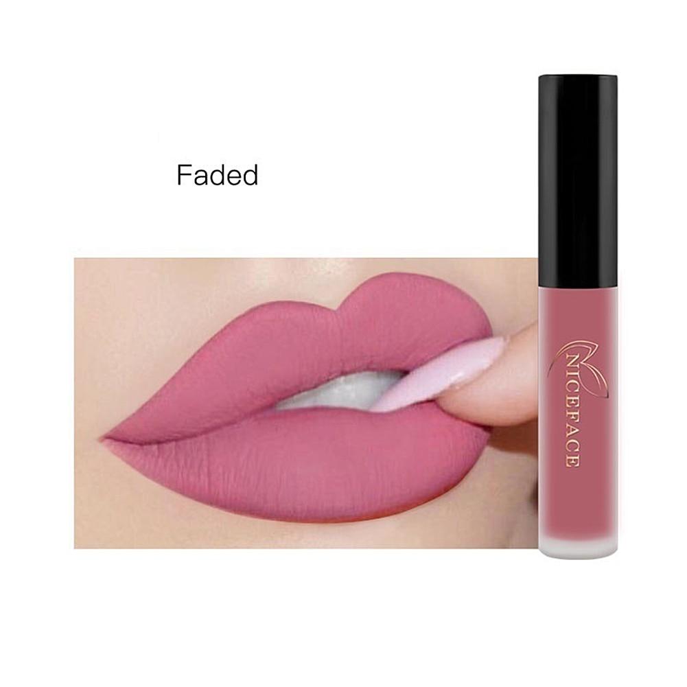 Long Lasting Matte Velvet Lip Gloss Cream Liquid Lipstick Women Makeup Cosmetic Cosmetic Tools