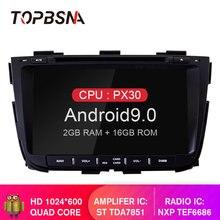 TOPBSNA Android 9,0 автомобильный DVD мультимедийный плеер для kia Sorento 2013 2014 2015 2 Din автомобильный радиоприемник wi-fi-мультимедиа стерео, головное устройство RDS